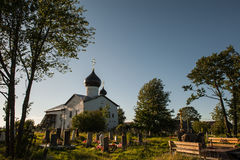 Vieille église russe dans Storojno Images stock