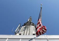 Vieille gloire placé sur l'Empire State Building Images stock