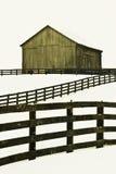 Vieille grange à la ferme de gammes de produits de cheval Photo stock