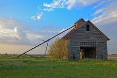 Vieille grange abandonnée en Illinois Photo stock