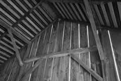 Vieille grange en noir et blanc Images libres de droits
