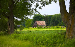 Vieille grange et ruines Images libres de droits