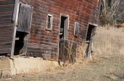 Vieille grange rouge Images libres de droits
