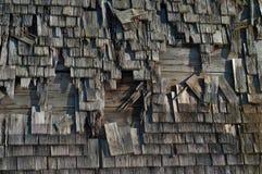 Vieille grange rustique Vieux mur extérieur en bois bavarois photos libres de droits
