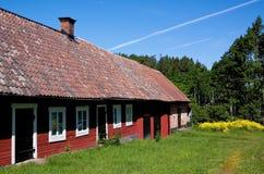 Vieille grange suédoise Images libres de droits