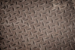 Vieille grille rouillée de drain de fer. Image libre de droits