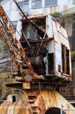 Vieille grue de chantier de construction navale Image libre de droits