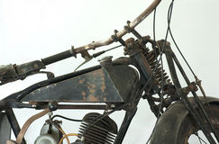 Vieille guerre II de moto Photographie stock