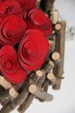 Vieille guirlande de roses Photo stock