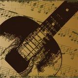 Vieille guitare   Photographie stock libre de droits