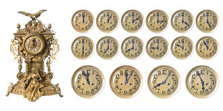 Vieille horloge antique Photographie stock