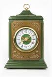 Vieille horloge antique d'isolement sur le blanc Images stock