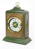 Vieille horloge antique d'isolement sur le blanc Images libres de droits