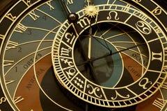 Vieille horloge astronomique à Prague Images libres de droits