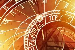 Vieille horloge astronomique à Prague, République Tchèque image stock