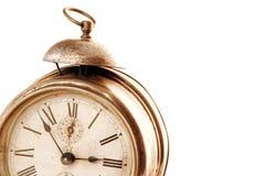 Vieille horloge d'alarme analogique Photographie stock libre de droits