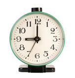 Vieille horloge d'alarme mécanique Images libres de droits