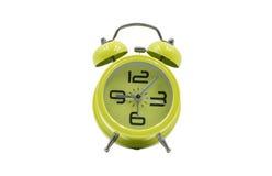 Vieille horloge d'alarme verte Photos libres de droits
