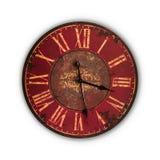 Vieille horloge d'isolement de vintage Photos libres de droits