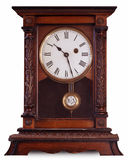 Vieille horloge de chariot Images libres de droits