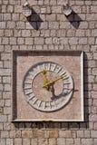 Vieille horloge de Krk, Croatie Photos libres de droits