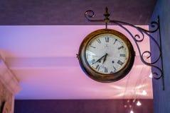 Vieille horloge française Photographie stock libre de droits