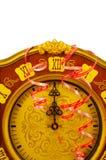 Vieille horloge la veille de l'an neuf et du Noël Photos stock