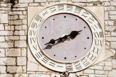Vieille horloge médiévale Images libres de droits