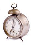 Vieille horloge sur le fond blanc Photo libre de droits