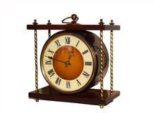 Vieille horloge sur un fond blanc images libres de droits