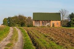 Vieille hutte dans un village Photographie stock