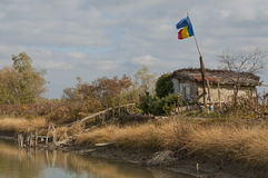 Vieille hutte de pêche Photos libres de droits
