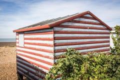 Vieille hutte de plage Image stock