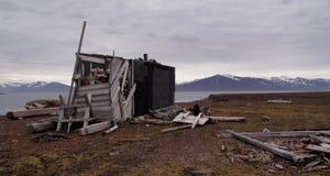 Vieille hutte de trappeurs Photographie stock libre de droits