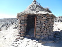 Vieille hutte péruvienne Photo libre de droits