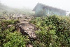 Vieille hutte sur les collines occidentales de Ghat Photographie stock libre de droits