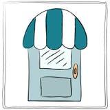 Vieille icône de porte, vecteur d'isolement d'illustration Fermez-vous vers le haut du doo en bois Images stock