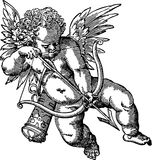 Vieille illustration d'ange illustration stock