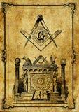 Vieille illustration de franc-maçonnerie de cru illustration libre de droits
