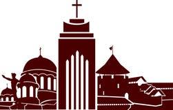 Vieille illustration de ville Image stock