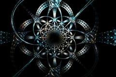 Vieille image blanche et noire bleue géométrique argentée abstraite Images libres de droits