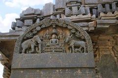 Vieille inscription de concession de Kannada, A 1182 d du Roi Veera Ballala II, sur demande d'Achiyakka, épouse de ministre Chand photographie stock libre de droits