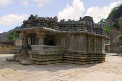 Vieille inscription de concession de Kannada, A 1182 d du Roi Veera Ballala II, sur demande d'Achiyakka, épouse de ministre Chand photo stock