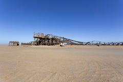 Vieille installation de perceuse d'huile en Namibie images libres de droits