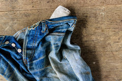 Vieille Jean Photo stock