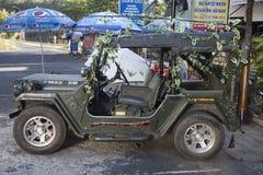 Vieille jeep de l'armée américaine au Vietnam Image libre de droits
