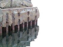 Vieille jetée oubliée par la mer Photos libres de droits