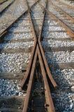 Vieille jonction de chemin de fer Image stock