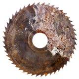 Vieille lame de scies circulaire rouillée photographie stock libre de droits