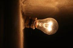 Vieille lampe à la maison Images stock